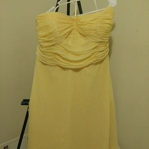 Buttercup yellow cocktail dress
